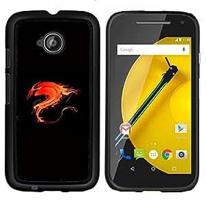 """Be-Star Único Patrón Plástico Duro Fundas Cover Cubre Hard Case Cover Para Motorola Moto E2 / E(2nd gen)( Llama Flaming Fire Dragon Tribal"""" )"""