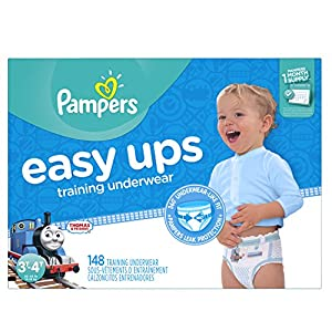Ratings and reviews for Pampers Easy Ups Training Pants Disposable Diapers for Boys Size 5 (3T-4T), 148 Count, ONE MONTH SUPPLY