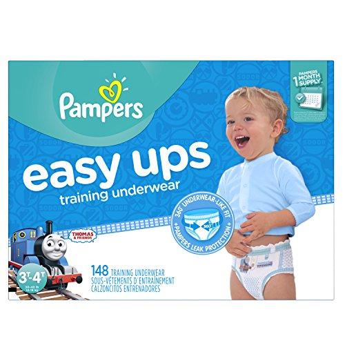 Pampers Easy Ups Training Underwear Boys, Size 5, 3T-4T, 148 Count