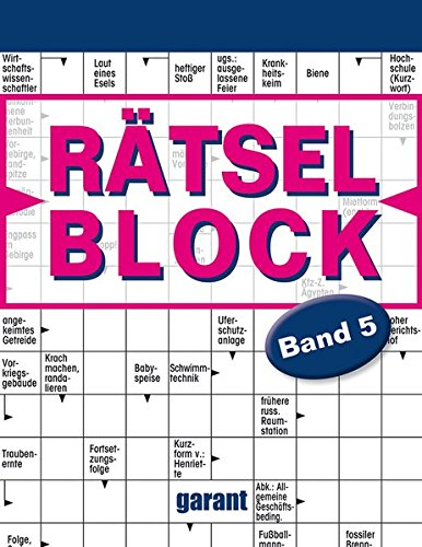 Rätselblock Band 5 Taschenbuch – 1. Februar 2016 _ Rätselblock Band 5 garant Verlag 3735901069