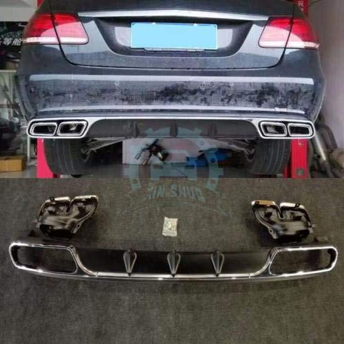 FidgetFidget 3X Rear Diffuser with Exhaust Tips Muffler for Mercedes-Benz E-Class W212 E63 - Mercedes Rear Benz Mufflers