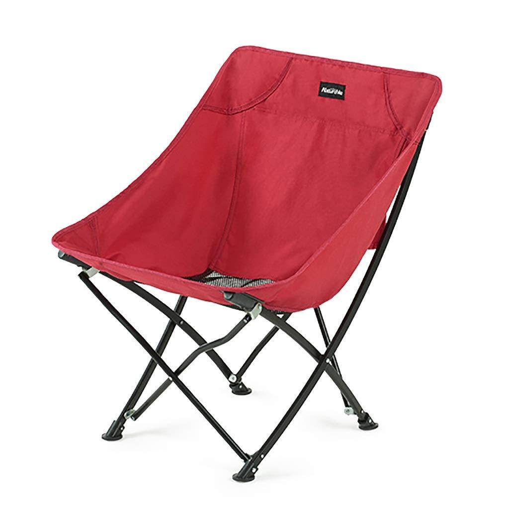Klappbarer Campingstuhl Tragbarer Klapphocker, Outdoor Falten leichte Camp Hocker Sitz für Camping, Angeln, Picknick, Reisen und Wandern