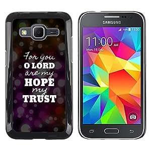 Be Good Phone Accessory // Dura Cáscara cubierta Protectora Caso Carcasa Funda de Protección para Samsung Galaxy Core Prime SM-G360 // BIBLE Lord Hope Trust