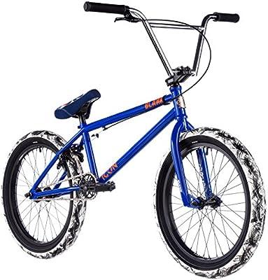 2017 20.85 en tubo superior icono en blanco para bicicleta BMX rueda de 20 en brillante color azul: Amazon.es: Deportes y aire libre