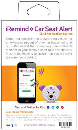 Amazon Sunshine Baby Car Seat Alarm With IRemind Notification System Never Leave Your Child Behind