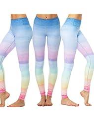 Clearance Sale! Women Pants WEUIE Women Rainbow Leggings Sports Gym Yoga Workout Fitness Lounge Athletic Pants