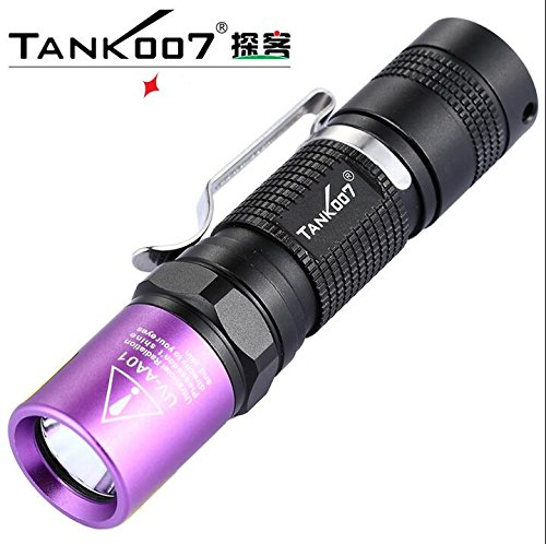 black : TANK007 UV Led Flashlight Ultra Violet UV Torch lint