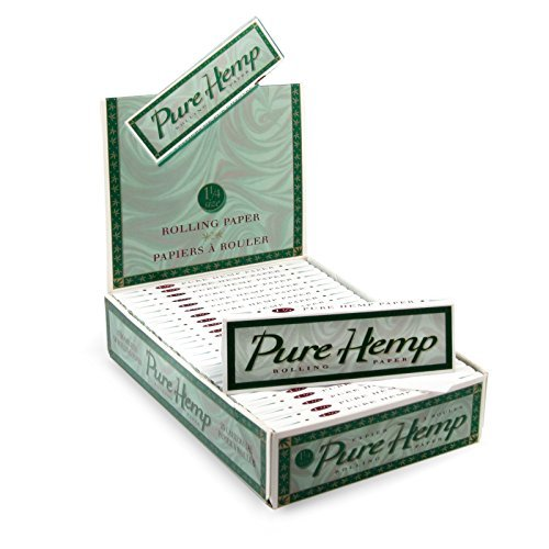 6 Pure Hemp 1 1/4 Tree Free Eco 100% Hemp Natural Gum Cigarette Rolling Papers Packs (50 Leaves/pack) + Beamer Smoke Sticker. For Legal Smoking Herbs, Rolling Tobacco, Cones, Herbal Mixes, Rollers,ryo ()