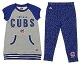 Outerstuff MLB Little Girl's (4-7) Cheer Loud Legging Set, Chicago Cubs Medium (5-6)