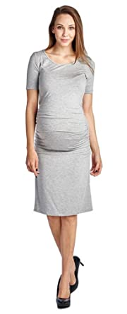 6620b09f4a5 Women s Plus Size Short Sleeve Soft Side Ruched Maternity Dress ...