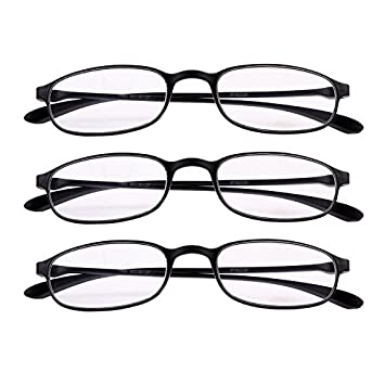 c4807f1b0e7 Fullwosing 3 Pairs Reading Glasses +1.50 Mens Womens Classic Readers  Eyeglasses Home Office Everyday Use