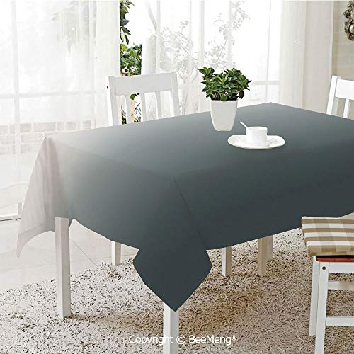 BeeMeng Large Family Picnic Tablecloth,Easy to Carry Outdoors,Ombre,Smoke Fog Futuristic Inspiration Grey Colored Modern Style Design Artistic Print Decorative,Dark Green,59 x 104 -