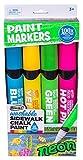 (US) RoseArt Washable Sidewalk Chalk Paint Neon Jumbo Markers by Rose Art