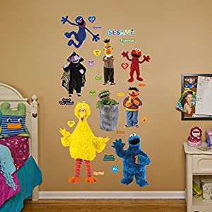 fathead sesame street collection real big wall decal home kitchen. Black Bedroom Furniture Sets. Home Design Ideas