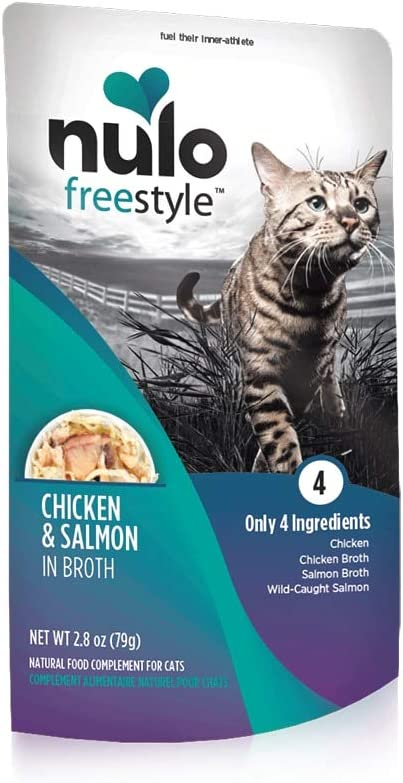Nulo, Freestyle Chicken & Salmon in Broth Cat Food Pouch, 2.8 oz