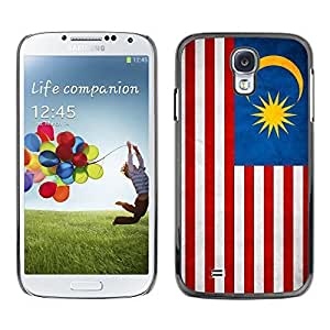 Shell-Star ( National Flag Series-Malaysia ) Snap On Hard Protective Case For Samsung Galaxy S4 IV (I9500 / I9505 / I9505G) / SGH-i337