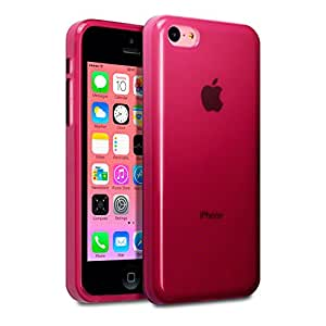 Funda Carcasa Gel Roja para Apple iPhone 5C Rojo Translúcido