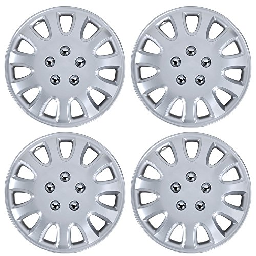 BDK Hubcaps 14 Inch Wheel Protection - OEM Replacement, Easy Installation, Total 4 Pieces (2 front 2 rear) (Toyota Yaris 2009 Hubcap compare prices)