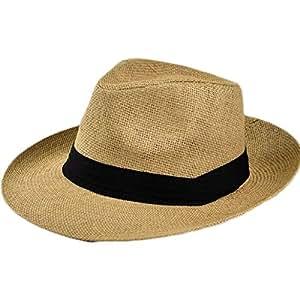 Verano Europa Y Estados Unidos Ribbon Wild Hat Beach Sun Visor Sombreros,Khaki