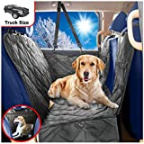 B-comfort Dog Car Seat Covers for Trucks-Large SUV-Best Back Seat and Doors Protector-Unique Mesh Window Hammock for Pets-Backseat Barrier-Side Flaps,Waterproof,Anti-Scratch-Luxury Black-XL-62x66