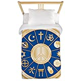 Twin Duvet Cover International Peace Symbol Religions
