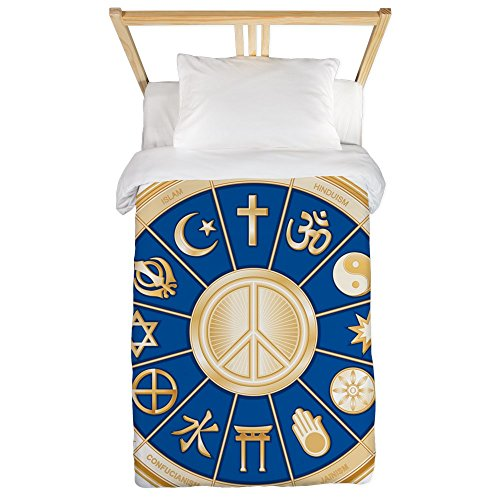 Twin Duvet Cover International Peace Symbol Religions by Royal Lion