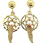 Black Hills Gold Clip-on Dream Catcher Earrings