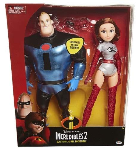 The Incredibles 2 Elastigirl & Mr. Incredible, 2 Pack
