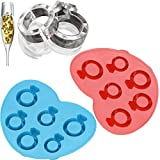 Vibola 1 PCS Diamond Ring Ice Shapes Silicone Jelly Candy Chocolate Molds Cookies Tools Ice Cream Tools Random color