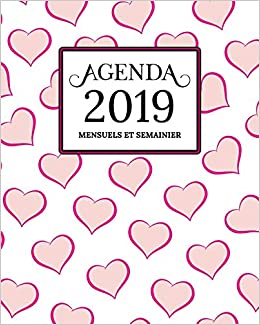 Amazon.com: Agenda 2019 Mensuel Et Semainier: Blanc, Rose Or ...