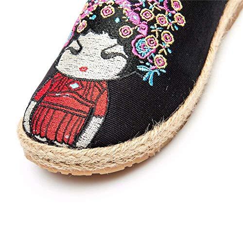Tessute Da A Ricamate 37 Mano Donna Di Lino Scarpe Sed Con Eu Pantofole YRqYwf