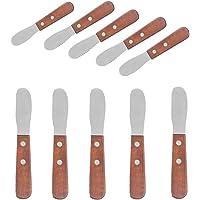 10 cuchillos de mantequilla de acero inoxidable