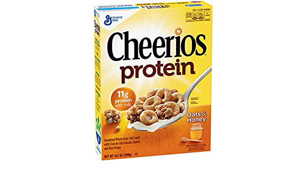 Cheerios Protein Cereal, Oats and Honey, 14.1 oz: Amazon.es ...