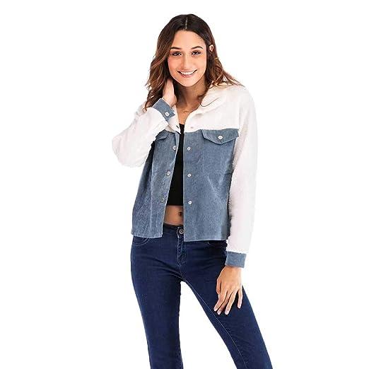afd1754d16ec Amazon.com  JESPER Women Winter Corduroy Solid Thickening Coats ...