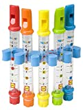 Water Flutes Whistles Music Sheets Musical Bath Time Toy Stocking Fill
