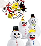 Decorate-A-Great Snowman 40 Piece Wooden Accessories Decorating Kit