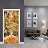 LWCX Falling Leaf Creative Door Sticker To The Bedroom Sticker 38.5200Cm2 Film