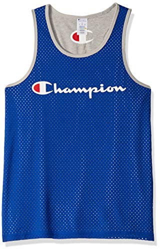 Champion Men's Reversible Mesh Tank, surf The Web/Oxford Gray, Large ()
