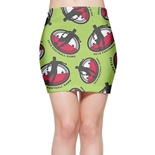 SKIRTS WWE 2018-football-game-Poland Women Slim Fit High Waisted Mini Short Skirts by SKIRTS WWE