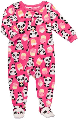 Carter's Infant Footed Fleece Sleeper - Pandas & Cupcakes-12 Months