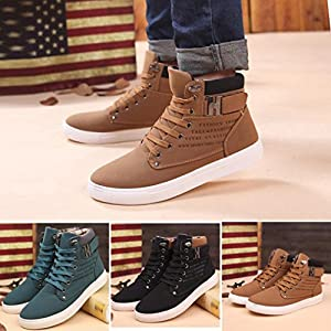 Sikye Mens Oxfords Canvas Casual High Top Shoes Fashion Sneakers Walking Shoes