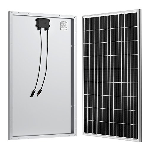 ALLPOWERS 100W 18V 12V Solar Panel with MC4 Connector Solar Module Kit for RV, Boat, Cabin, Tent, Car, 12v Battery