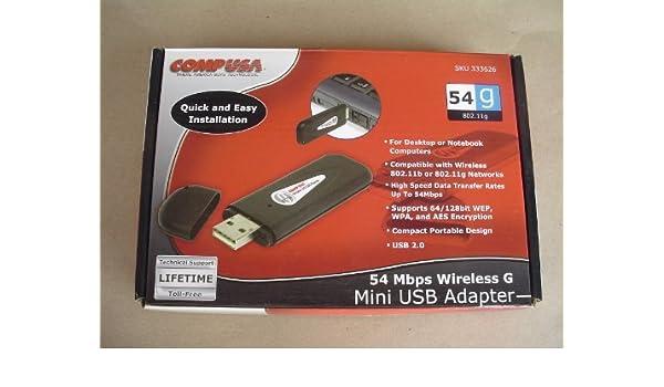 COMPUSA 54MBPS WIRELESS G MINI USB ADAPTER DRIVER DOWNLOAD (2019)