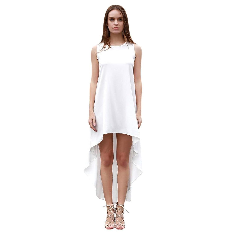 Frauen Kleid,Xinan Frauen Chiffon langes unregelmäßiges Sommerkleid Kleid