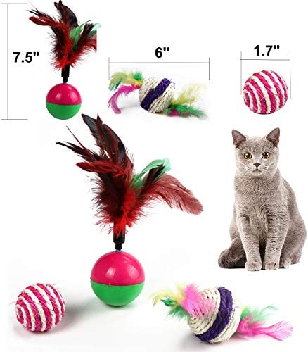 M JJYPET Cat Toys Kitten Toys Assortments,Crinkle Balls for Cat,Kitty,Kitten 5