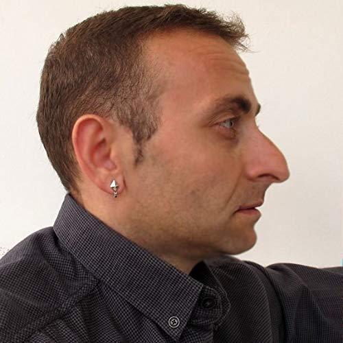 92b922810 Amazon.com: Diamond shaped stud earring for Men, Single Silver Earring, Male  Stud: Handmade