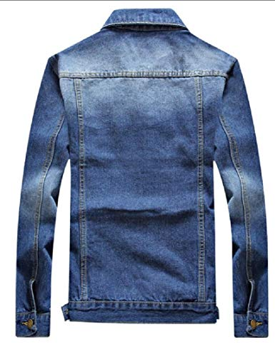 Jacket Collar Coats Denim Down Jeans Men Classic Turn EKU Pockets Chest 1 Flap ZqPtnWnzw
