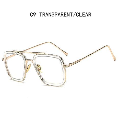 Yangjing-hl Gafas de Sol de Estilo Hombre Gafas cuadradas de ...