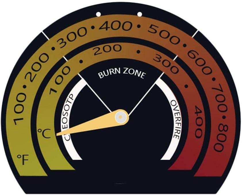 Szseven Termómetro De Estufa Magnética, Chimenea De Horno Monitor De Temperatura De Chimenea para Estufas De Leña Estufas De Gas, Fácil De Instalar