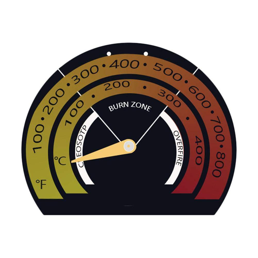 magn/étique Thermom/ètre de Foyer /à Bois pour cuisini/ères /à Bois 85 70 9mm Createjia Indicateur de Temp/érature Thermom/ètre pour Tuyau de Po/êle du Tuyau d/évacuation